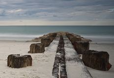 Pier in Pawleys-Insel stockfotografie
