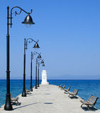 Pier in Pefkohori Royalty Free Stock Image