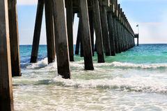 The pier at Pensacola Beach Royalty Free Stock Photos