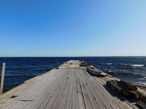 Pier with people. Royalty Free Stock Images