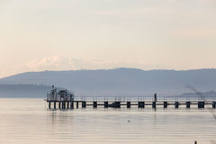 Pier and people Stock Photography