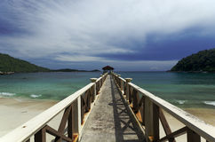 Pier in Perhentian Islands. In Malaysia Stock Image