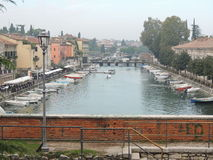 Pier of Peschiera on Garda Lake Stock Photos