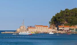 Pier of Petrovac, Adriatic Sea, Montenegro Stock Images