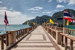 The pier on Phi Phi island Thailand Royalty Free Stock Images