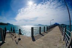 Pier on Phuket, the sea, the sky, boats Royalty Free Stock Image