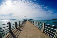 Pier on Phuket, the sea, the sky, boats Stock Photography