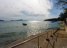 Pier on Phuket, the sea, the sky, boats Royalty Free Stock Photography