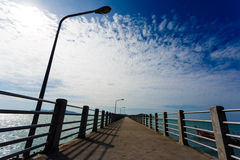 Pier on Phuket, the sea, the sky, boats Royalty Free Stock Images