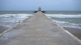The pier. Docked out to the sea stock video footage