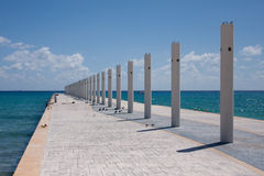Pier at Playa Del Carmen, Mexico. A quite pier found in Play Del Carmen Royalty Free Stock Images