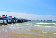 Pier in the popular resort town of Palanga, Lithuania Stock Image