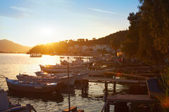 Pier in Poros Royalty Free Stock Photography