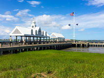 Pier at the Port of Charleston, SC. Royalty Free Stock Photography
