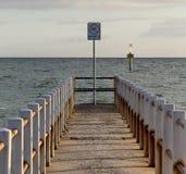 Pier. Port Philip Bay, Melbourne Stock Image