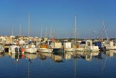 Pier Porto-Colom Stockfotografie