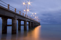 Pier in Porto Santo bis zum Abend Lizenzfreies Stockfoto