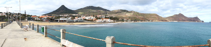 Pier on Porto Santo Island Royalty Free Stock Image