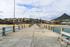 Pier on Porto Santo Island Stock Photo