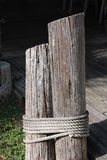 Pier Post. Old post at the entry of a marina in South Texas Stock Photos