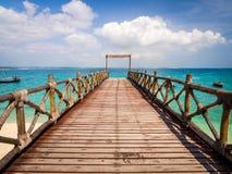 Pier on Prison Island, Zanzibar Stock Image