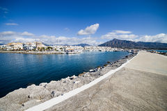 Pier in Puerto Banus Stock Photos