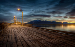 Pier in Puerto Natales, Chile Stock Photo