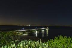 Pier am Punkt Lonsdale während Stockfoto