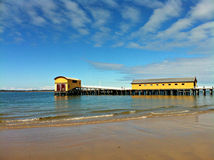Pier at Queenscliff. Historic wooden pier at Queenscliff royalty free stock photography
