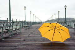 Pier after rain Stock Photography