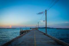 Pier am rayong, Thailand Lizenzfreies Stockfoto