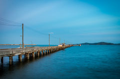 Pier am rayong, Thailand Stockfoto
