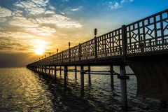 Pier on Red Sea in Hurghada/Makadi Bay at sunrise Stock Photography