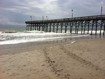 Pier relaxation stock photography