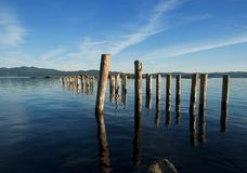 Pier Relics. Royalty Free Stock Photography
