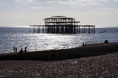 Pier remains Royalty Free Stock Image
