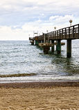Pier at Rerik on the baltic sea coast Stock Image
