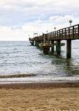 Pier at Rerik on the baltic sea coast Stock Image