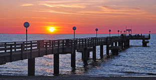 Pier of Rerik,Baltic Sea,Germany Royalty Free Stock Photo