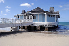Pier Restaurant Halcyon Beach. In St Lucia Royalty Free Stock Photo