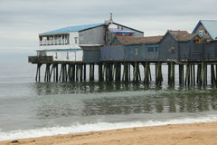 Pier old orchard beach maine Stock Image