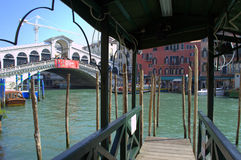 Pier by Rialto Bridge,Venice Stock Image