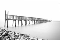 Pier Right. Gulf of Mexico 'Pier Right Royalty Free Stock Image