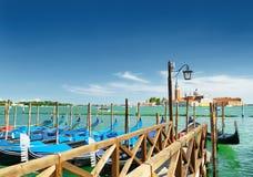 A pier beside the Riva degli Schiavoni in Venice, Italy Stock Photography