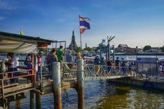 Pier River Royalty-vrije Stock Afbeeldingen