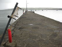 Pier on the River Shannon, Ireland Stock Image