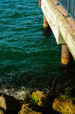 Pier And Rocky Shore Stock Image