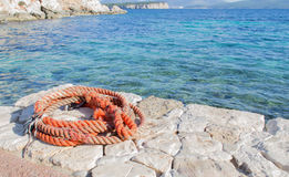 Pier and rope Stock Photography