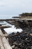 Pier ruins on the Big Island of Hawaii Royalty Free Stock Photography