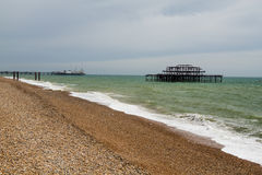 Pier Ruins ocidental, Brighton Beach, Inglaterra Fotos de Stock